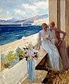 Albert Edelfelt - Taiteilijan vaimo ja Emilie von Etter parvekkeella Cannes'ssa - A III 1975 - Finnish National Gallery.jpg