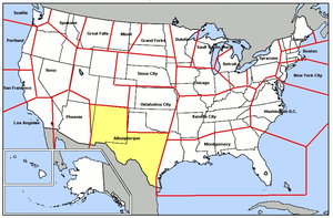 Albuquerque Air Defense Sector - Map of Albuquerque ADS