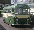 Aldershot & District bus 351 (MOR 587) 1955 AEC Reliance Weymann, rebuilt Strachan coach (256), Onslow St. bus station, Guildford, 29 March 1972.jpg