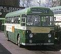 Aldershot & District bus 351 (MOR 587) 1955 AEC Reliance Weymann, rebuilt Strachan coach (256), Onslow St. bus station, Guildford, 29 March 1972.jpg