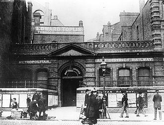 Aldgate East tube station - The original Aldgate East station.
