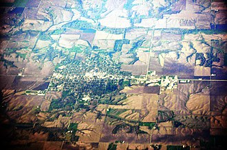 Aledo, Illinois - Aerial view of Aledo, 2012
