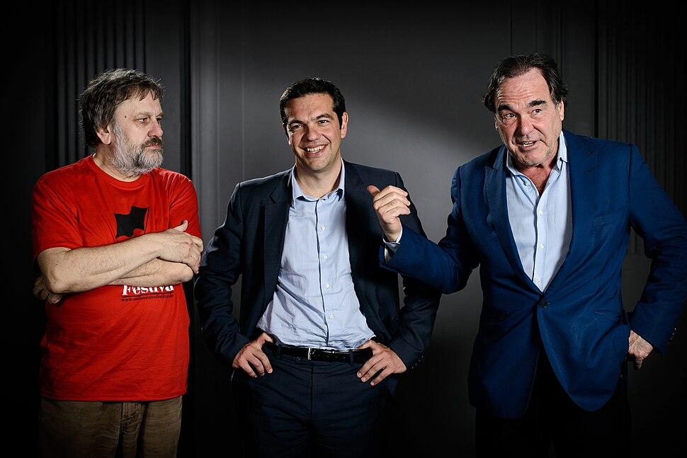 Alexis Tsipras, Oliver Stone, Slavoj Zizek (8752107280)