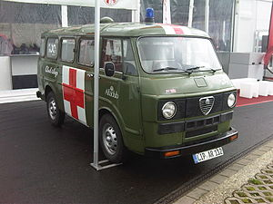 English: Alfa Romeo Autotutto F12 as ambulance...