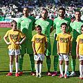 Algérie - Arménie - 20140531 - Islam Slimani (13), Nabil Ghilas (9) et Rafik Halliche (5) 1.jpg