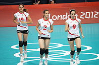 Algeria women's national volleyball team at the 2012 Summer Olympics (7913952010).jpg