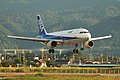 All Nippon Airways A320-211(JA8383) landing @MYJ RJOM (2074294070).jpg