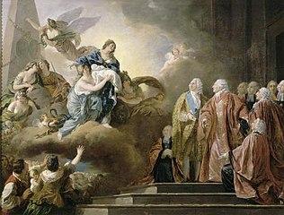 Allégorie de la naissance du Dauphin.22 Octobre 1781