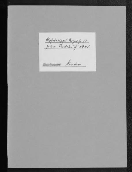 File:Alphabetisches Namensverzeichnis zum Sterberegister des Standesamtes Minden, 1941.djvu