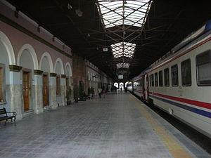 Alsancak railway station - A view of Alsancak Terminal from inside in 2015