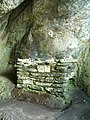 Altar in St Columba's Cave - geograph.org.uk - 145556.jpg