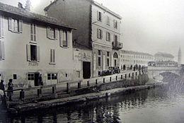 L 39 alzaia all 39 ingresso in darsena nel 1930 for Naviglio significato