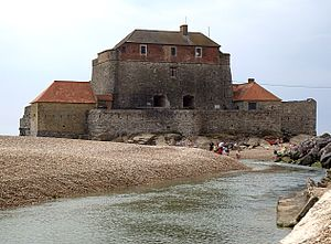 Ambleteuse - Vauban's Fort Mahon and the Slack River in Ambleteuse