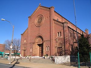 The Hill, St. Louis - St. Ambrose Roman Catholic Church is a landmark in the community