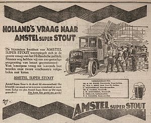 "Amstel Brewery - An advertisement for ""Amstel super Stout"" from 1922"