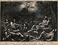 An angel appears to some shepherds in the night. Engraving b Wellcome V0034620.jpg
