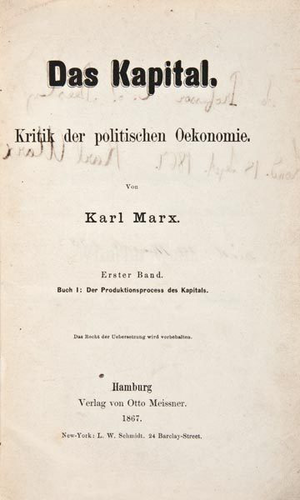 Edward Spencer Beesly - Image: An inscribed copy of Das Kapital from Karl Marx to Edward Spencer Beesly 2