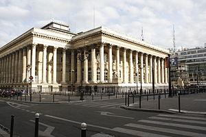 Euronext - Image: Ancienne Bourse à Paris