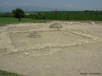 Qutqashen Sultanate - Image: Ancient Gabala 02