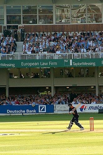 Twenty20 - Former England batsman Andrew Strauss batting for Middlesex against Surrey