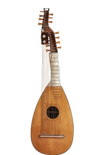Angélique (instrument) plucked string instrument of the lute family of the baroque era