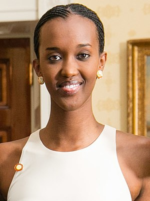 Ange Kagame - Kagame at White House Dinner, 2014