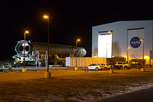 Horizontal Integration Facility - Antares roll-out from one of the two bays