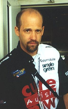Anthony Edwards tijdens de Indianapolis 500 in 2002