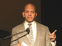 Anthony Williams, Mayor of the District of Columbia, speaking at Cherry Blossom Festival, 2006.jpg