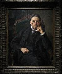 Anton Chekhov by Osip Braz (1898, GTG) FRAME.jpg
