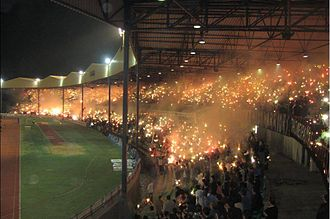 Apollon Limassol - Apollon supporters during a match in 2006.