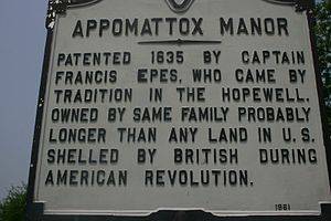 Appomattox Manor - Appomattox Manor marker