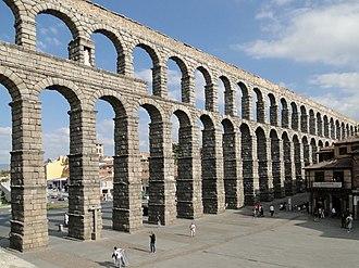 Aqueduct of Segovia - Image: Aqueduct of Segovia 08