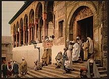 Tunisia-Demographics-Arabs leaving mosque, Tunis, Tunisia-LCCN2001699400