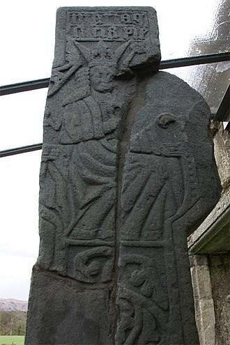Clan MacDougall - The MacDougall Cross, dating from about 1500 at Ardchattan Priory.