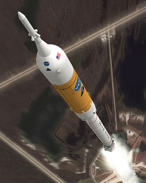 The Ares I rocket that has been cancelled by the Obama NASA plaln