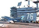 Argentine Navy Dassault Super Etendard jet on USS Ronald Reagan.jpg