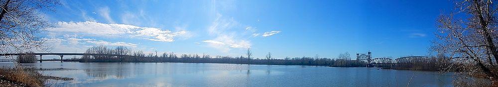 Arkansas River In Van Buren, Arkansas