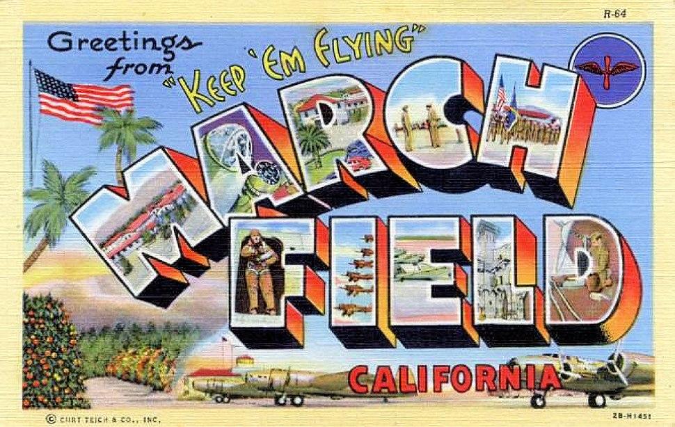 Army Air Forces - Postcard - March Field California