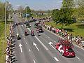 Arnhem Gelredome-traverse, Tom Dumoulin in het rose Giro d'Italia 2e etappe IMG 0150 2016-05-07 12.32.jpg