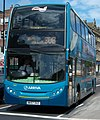Arriva bus 7503 Alexander Dennis Trident 2 Enviro 400 NK57 DXZ Coastliner branding in Newcastle upon Tyne 9 May 2009.jpg