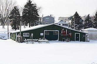 National Register of Historic Places listings in Kewaunee County, Wisconsin - Image: Art Dettman Fishing Shanty Algoma Wisconsin