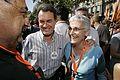 Artur Mas amb Muriel Casals, presidenta d'Òmnium. (4782755697).jpg