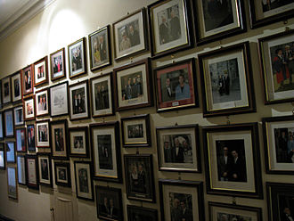 Ashford Castle - Photographs of notable guests line the walls of a second-floor gallery.