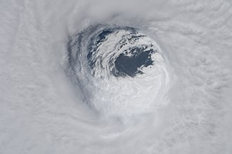 Hurricane Michael - The eye of Hurricane Michael seen from the International Space Station on October 10