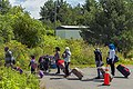 Asylum seekers lining up to enter Canada from end of Roxham Road, Champlain, NY.jpg