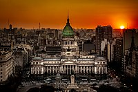 Sunset at the Argentine National CongressAuthor: Miguel César