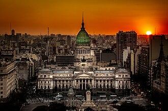 Politics of Argentina - Image: Atardecer en el Congreso de la Nación Argentina