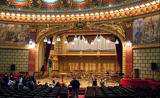 Romanian Rhapsodies (Enescu) - The stage of the Athenaeum in Bucharest