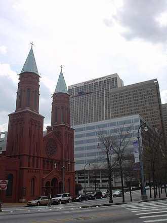 Peachtree Center - Sacred Heart Catholic Church, located on Peachtree Center Avenue